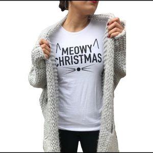 Meowy Christmas Graphic Tee, NWT